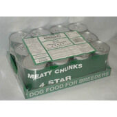 12 x Cambrian Dog Unlabeled Cans Meaty Chunks 4 Star 400g