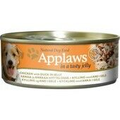 12 x Applaws Dog Can Chicken With Duck In Jelly 156g