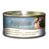24 x Applaws Cat Tin Sardine With Shrimp In Jelly 70g