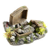 Classic Action Ornament Coffin With Plants 195mm