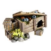 Classic Aquatic Artefacts Wooden Crate With Plants 165mm