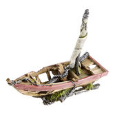 Classic Romantic Wrecks Sunken Sail Boat 230mm