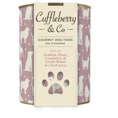 6 x Cuffleberry & Co. Venison Duck Cranberry & Green Beans In A Herb Gravy 400g