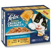 4 x Felix Sensations Crunchy Crumbles Fish 10x100g