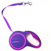 Doodlebone Rambler Retractable Tape Lead Purple 25kg - 5m