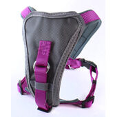 Doodlebone Nylon X-Over Dog Harness Purple