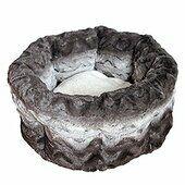 Rosewood 40 Winks Snuggle Bed Round Plush Grey & Cream 15