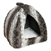 Rosewood 40 Winks Pyramid Snuggle Bed Plush Grey & Cream 15