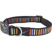 Hem & Boo Nylon Adjustable Collar Block Dog Multi