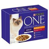 40 x Purina One Adult Mini Fillets In Gravy Chicken & Beef 85g