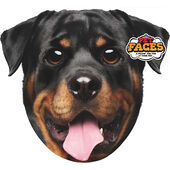 Pet Faces Brown Cushion Rottweiler 45cm
