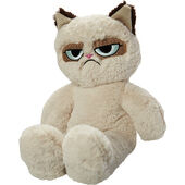Grumpy Cat Dog Toy Floppy Plush Cat 37cm