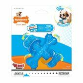 Nylabone Puppy Teething Chew Textured Crossbone Beef X small