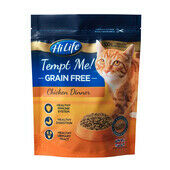 4 x HiLife Tempt Me Cat Grain Free Soft & Tender Chicken 800g