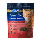 4 x HiLife Tempt Me Cat Grain Free Soft & Tender Salmon & Ocean Fish 800g