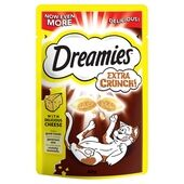 8 x Dreamies Extra Crunch Cheese Cat Snacks 60g