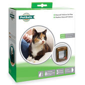 Staywell Deluxe Manual 4 Way Locking Cat Flap Woodgrain