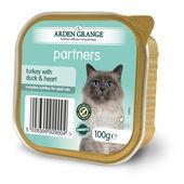 16 x Arden Grange Partners Turkey With Duck & Heart 100g