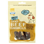 8 x Good Boy Pawsley & Co Chewy Beef Dumbbells 100g