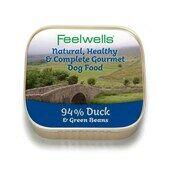22 x 150g Feelwells Gourmet Duck & Green Beans Wet Dog Food
