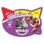 8 x Whiskas Trio Crunchy Cat Treats Poultry Flavours 55g