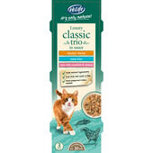 18 x HiLife Its Only Natural Cat Can Multipack Luxury Classic Trio In Sauce 70g