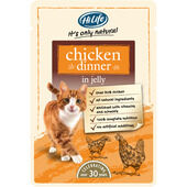 18 x HiLife Its Only Natural Cat Pouch Chicken Dinner In Jelly 70g