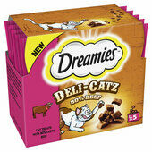 16 x Dreamies Deli-catz Cat Treats With Beef 5x5g Pack