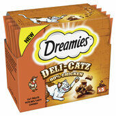 16 x Dreamies Deli-catz Cat Treats With Chicken 5x5g Pack
