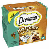 80 x Dreamies Deli-Catz Cat Treats With Turkey 5g