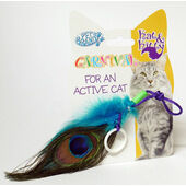 Pet Brands Peacock Feather Cat Toy