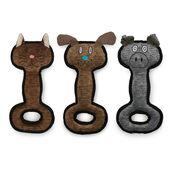 6 x Ancol Animal Tugs Dog Toy 31cm