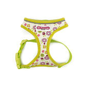 Ancol Comfort Mesh Dog Harness Lime Flowers