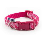 Ancol Indulgence Nylon Adjustable Collar Pink Combat