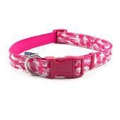 Ancol Indulgence Nylon Adjustable Collar Pink Combat 45-70cm Sz 5-9