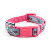 Ancol Indulgence Nylon Adjustable Collar Pink Donut