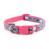 Ancol Indulgence Nylon Adjustable Collar Pink Donut 45-70cm Sz 5-9