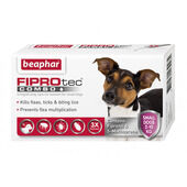 Beaphar FIPROtec Combo Flea & Tick Spot On Small Dog (2-10kg) - 3 Treatments