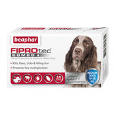 Beaphar FIPROtec Combo Flea & Tick Spot On Medium Dog (10-20kg) - 3 Treatments