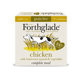 9 x 395g Forthglade Complete Meal Gf Adult Chicken W/butternut Squash & Veg