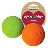 3 x Rosewood Tough Rubber Squeak Ball