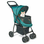 PetGear Happy Trails No Zip Stroller Blue