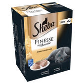 48 x Sheba Finesse Cat Trays Mixed Collection In Mousse 85g