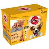 52 x Pedigree Dog Pouches - Beef with Carrots & Chicken with Carrots Loaf 100g