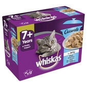 48 x Whiskas 7+ Cat Pouches Casserole Fish Selection In Jelly 85g