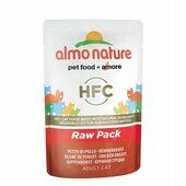 24 x Almo Nature HFC Cat Pouch Raw Pack Chicken Breast 55g