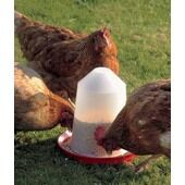 Back-2-Nature Aviary Feeder Red/transparent 1 Litre 16.5x15cm