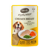 15 x Hilife It\'s Only Natural - Pouch - Chicken Breast With Carrots & Peas 100g