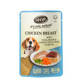 15 x Hilife It's Only Natural - Pouch - Chicken Breast With Tuna & Garden Vegetables 100g