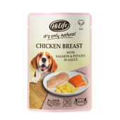 15 x Hilife It's Only Natural - Pouch - Chicken Breast With Salmon & Potato 100g